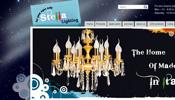 طراحی وب سایت stella chandeliess لوستر ایتالیایی