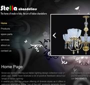 طراحی stella chandeliess لوستر ایتالیایی