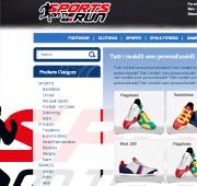 طراحی فروشگاه ورزشی sports on the run