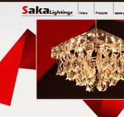 طراحی وب سایت saka lightings