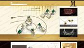 طراحی وب سایت  طلا و جواهری MGLuxe