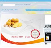 طراحی وب برند برتر سیلور هاوس